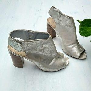 Silver Heel Booties BAMBOO